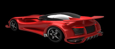 RED Sports car road-star 3d Royalty Free Stock Photos