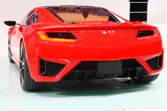 Red sports car in show. Red sports car in the beijing 2012 auto exhibition Stock Image