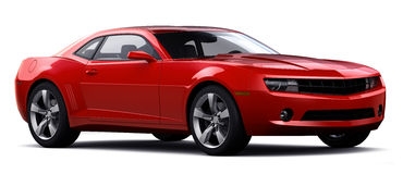 Red sports car. On a white background Stock Images