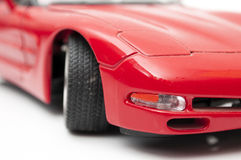 Red sports car. On a white background Stock Photos