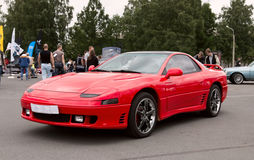 Red Sports Japanese Car 90s. Mitsubishi 3000GT 1991 on autoshow. Russia. May 27 2016 Royalty Free Stock Image