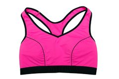 Red Sports Top Bra. Isolate Stock Images