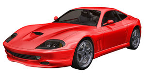 Red sports toy car Stock Photography