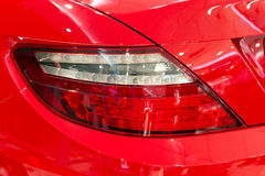 Red sporty car Stock Photography