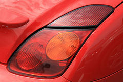 Red sporty car Royalty Free Stock Photos