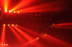Red spot lights Royalty Free Stock Images
