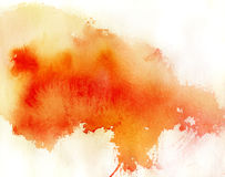 Red spot, watercolor abstract background stock photo