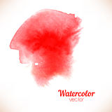 Red spot, watercolor hand painted Stock Photos
