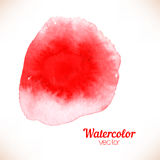 Red spot, watercolor hand painted Stock Image