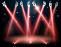 Red spotlights background Royalty Free Stock Images