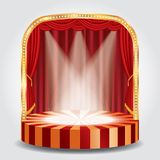 Red spots circle stage Royalty Free Stock Images
