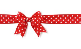 Red spotted bow Stock Photos