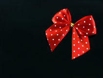 Red spotted gift bow Royalty Free Stock Photos