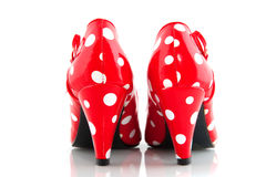 Red spotted shoes Royalty Free Stock Image