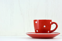 Red spotty mug Royalty Free Stock Photos