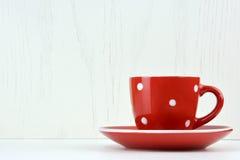 Red spotty mug Royalty Free Stock Photos