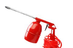 Red spray gun. Stock Photos