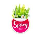 Red Spring label stock illustration