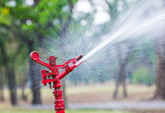 Red sprinkler Stock Photos