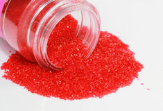 Red Sprinkles Stock Photo