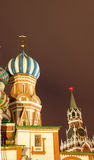 Red Square. Beautiful cathedral on Red Square at night royalty free stock photo
