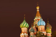 Red Square. Beautiful cathedral on Red Square at night royalty free stock images
