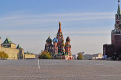 Red Square. The place of execution Spaska tower sunny clear day Stock Photography