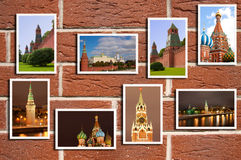 Red Square. The beautiful Red Square multiphotos stock illustration