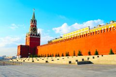Red Square. View Of The Red Square With Spasskaja Tower Royalty Free Stock Photos