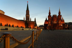 Red Square At Night Stock Photos