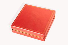 Red square box isolated. On a white background Royalty Free Stock Image