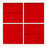 Red square cabinet Stock Images