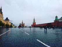 Red Square. Cold day on the Red Square Stock Image