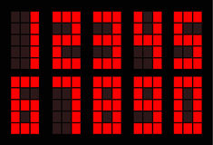 Red square digital number Royalty Free Stock Image