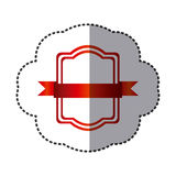 red square emblem icon Stock Image