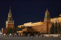 Red Square in the evening. Moscow, Russia. Red Square in the evening with Kremlin and mausoleum of Lenin Point of interest in Moscow stock images