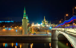Red Square at the evening, Moscow, Russia Royalty Free Stock Images