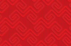 Red square fastening spirals on checkered background Stock Photo