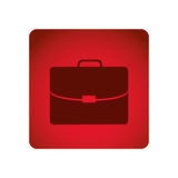Red square frame briefcase executive icon Royalty Free Stock Photo