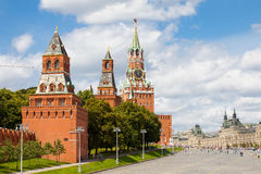 Red Square, GUM and Kremlin towers, Moscow, Russia Stock Photo