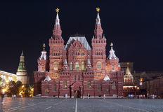 Red Square. Historical Museum. Stock Photography