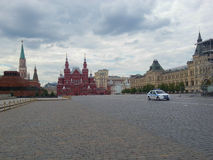 Red square, Historical Museum and State general store in Moscow Stock Photo