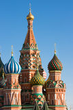 Red Square, Kremlin. Heads of the Basils Cathedral, Red Square, Moscow, Russia Stock Photo