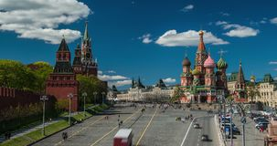 Red Square and Kremlin in Moscow stock video