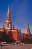 Red Square with Kremlin and Nikolskaya Tower Stock Photo