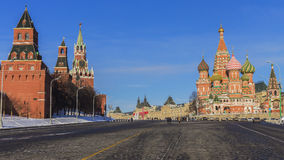 Red Square (Kremlin and St. Basil's Cathedral.) Moscow, Russia.  stock images