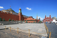 Red Square, Lenin mausoleum and Moscow Kremlin Royalty Free Stock Photo