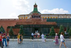 Red Square. Lenin Mausoleum on Red Square. Moscow, Russia Royalty Free Stock Image