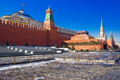 Red square and the mausoleum Stock Photography