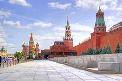 Red Square. Mausoleum of Lenin and Kremlin Royalty Free Stock Photos